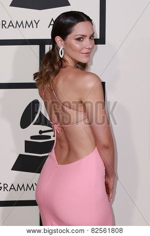 LOS ANGELES - FEB 8:  Katharine McPhee at the 57th Annual GRAMMY Awards Arrivals at a Staples Center on February 8, 2015 in Los Angeles, CA