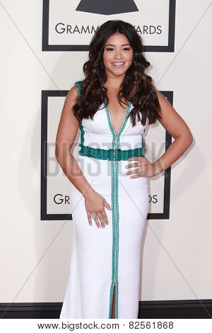 LOS ANGELES - FEB 8:  Gina Rodriguez at the 57th Annual GRAMMY Awards Arrivals at a Staples Center on February 8, 2015 in Los Angeles, CA