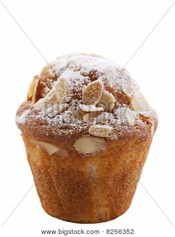 Homemade Unwrapped Almond Muffin