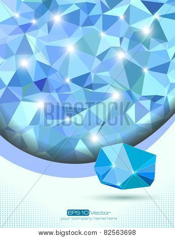 Blue abstract office and technology background. Vector illustration