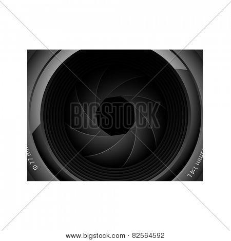Illustration of camera lens.