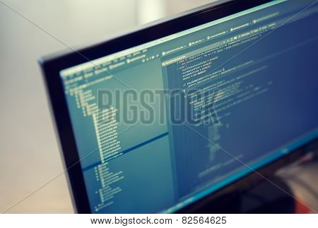 Backend Sourcecodes On Computer Monitor