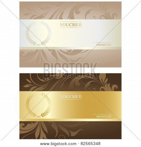 Beautiful Voucher Card Set, Vector Illustration