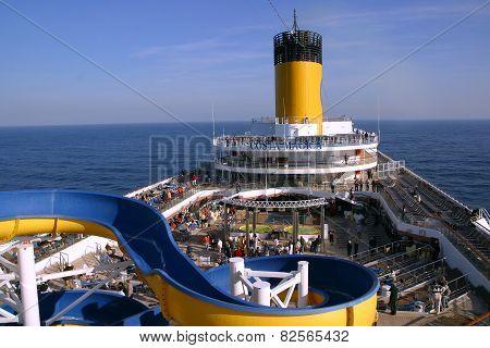 Deck Cruise Ship Costa Magica