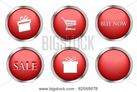 Red shopping buttons