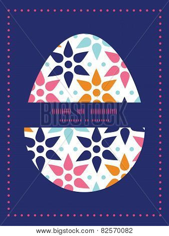 Vector abstract colorful stars Easter egg sillhouette frame card template