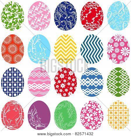 Twenty Ornamental Easter Eggs
