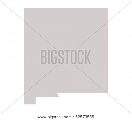 New Mexico State map isolated on a white background, USA.