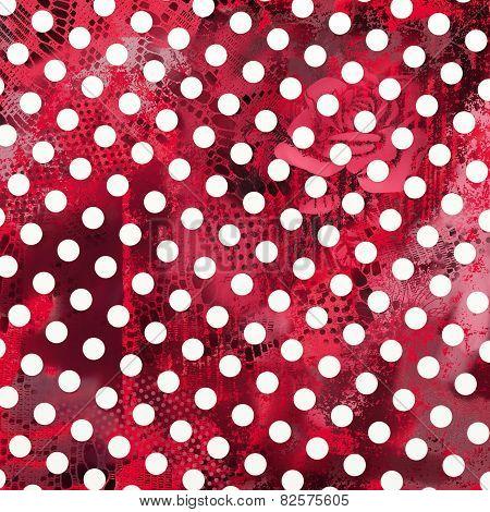 Grunge Pink Polka Dot Art
