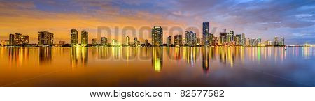 Miami, Florida, USA city skyline panorama.