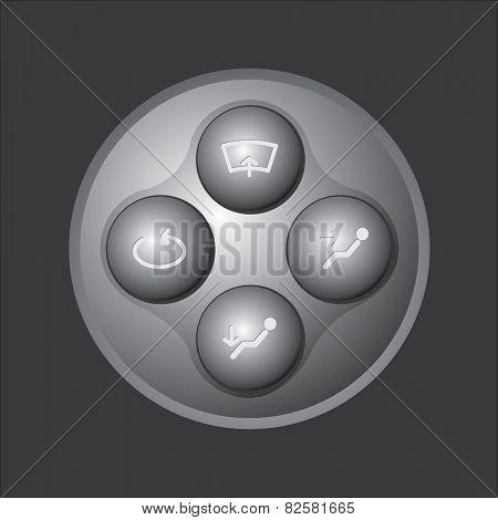 Car user interface buttons