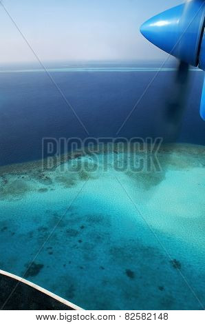 The Maldives Seen From Above