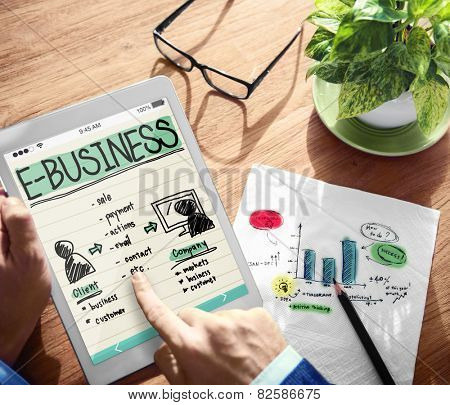 E-Business Strategy Growth Success Business Concept