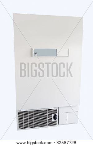 refrigerator for storage of donor blood isolated under the white background