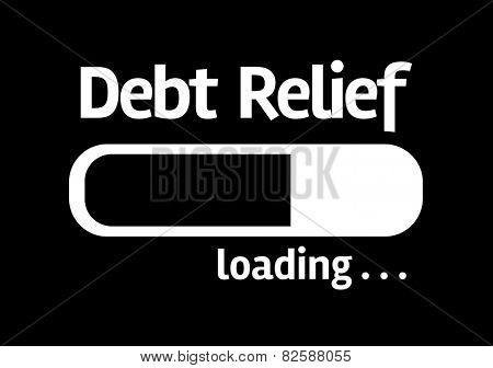 Black board with inscription: Debt Relief