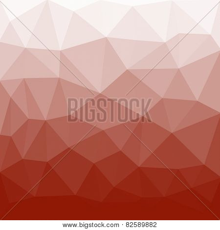low-poly background red