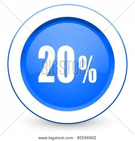 20 percent icon sale sign