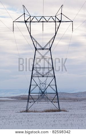 High-tension transmission tower