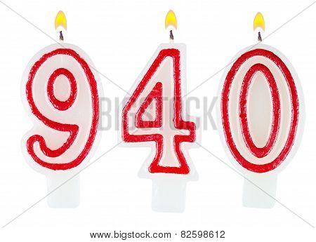Candles Number Nine Hundred Forty