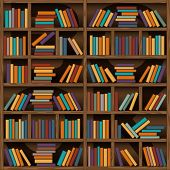 picture of book-shelf  - background of library book shelf - JPG