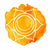 stock photo of chakra  - Swadhisthana chakra - JPG