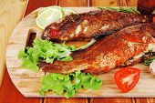 picture of bass fish  - healthy food - JPG