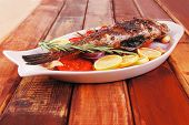 stock photo of sunfish  - healthy lunch  - JPG