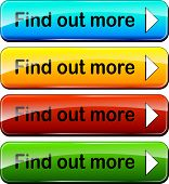 picture of more info  - illustration of colorful web buttons for find out more - JPG