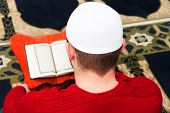 picture of prayer  - Photo of the Young muslim man showing Islamic prayer - JPG