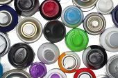 pic of spray can  - Spray paint can equipment objects isolated backgrounds - JPG