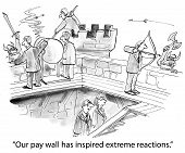 pic of reaction  - Cartoon of business people being attacked - JPG