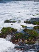 stock photo of tanah  - The sea at the Tanah Lot temple - JPG