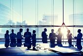 image of conversation  - Business People Conference Meeting Boardroom Working Conversation Concept - JPG