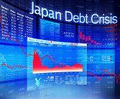 image of stock market crash  - Japan Debt Crisis Economic Stock Market Banking Concept - JPG