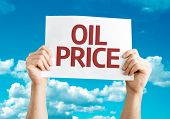 picture of higher power  - Oil Price card with sky background - JPG