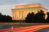 foto of abraham  - Abraham Lincoln Memorial at night  - JPG
