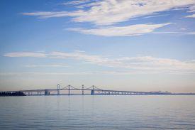 picture of suspension  - The Chesapeake Bay Bridge in Stevensville - JPG