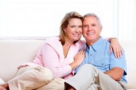 picture of retirement age  - Senior couple at new home - JPG