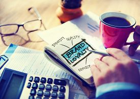 picture of loyalty  - Brand Loyalty Marketing Branding Office Working Accounting Concept - JPG