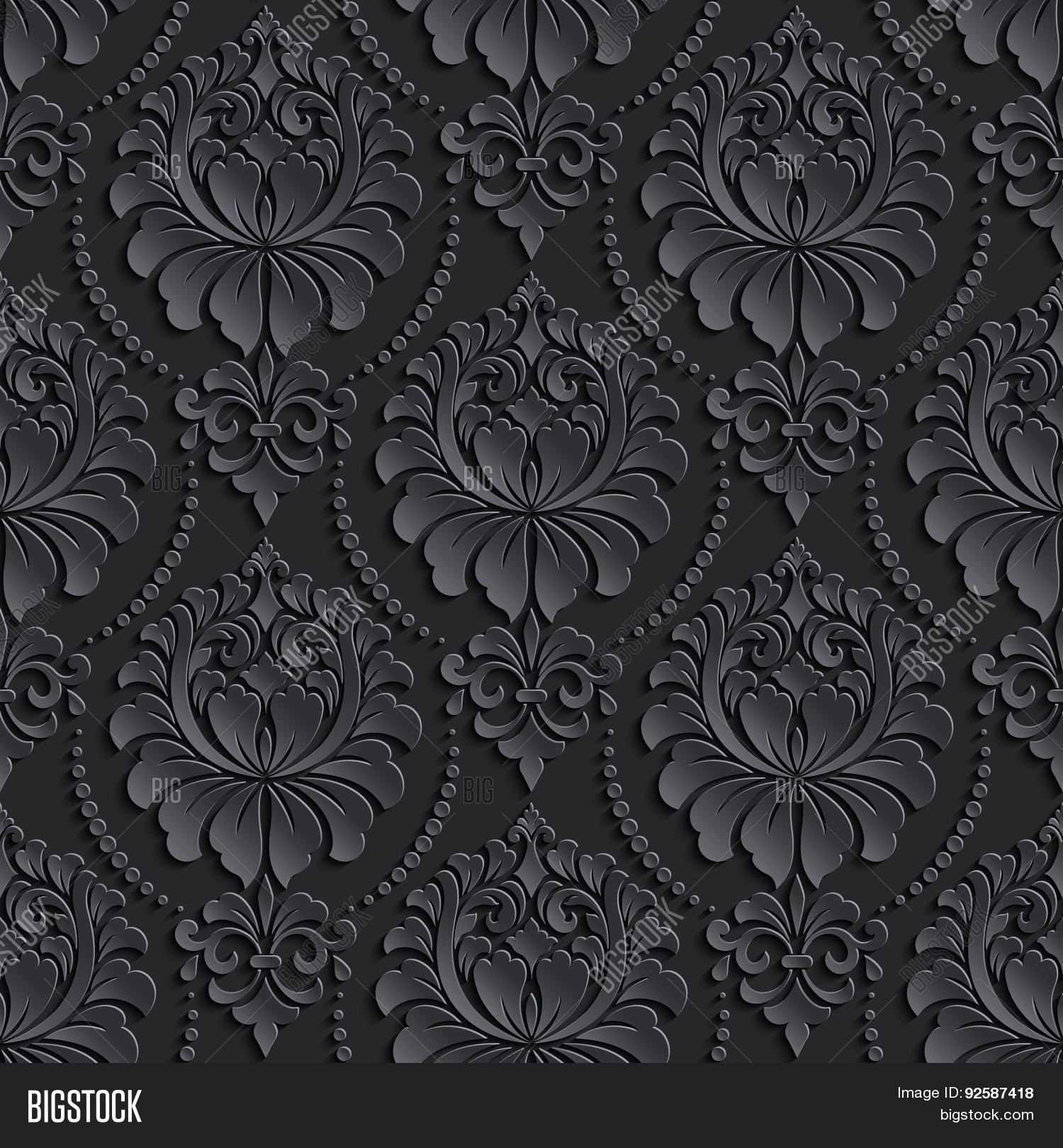 black and white damask wallpaper wallpapers - DriverLayer ...