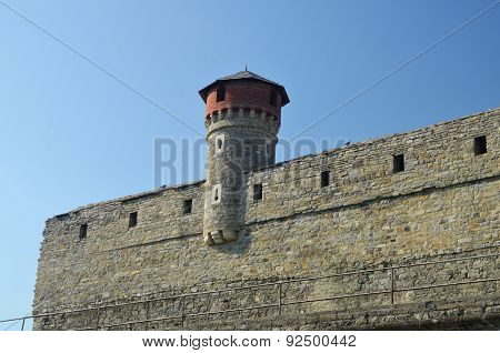 Medieval Castle Wall And Tower