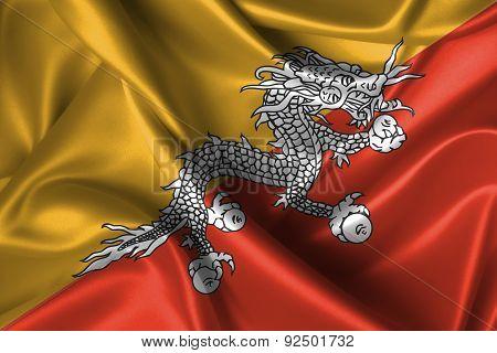 Wavy Flag Of Bhutan