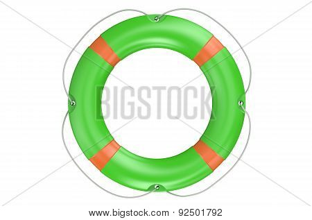 Lifebuoy With White Stripes