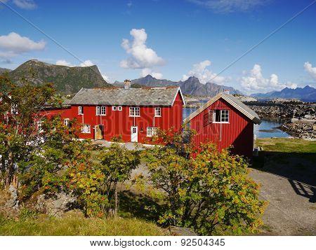 Lofoten village, Norway