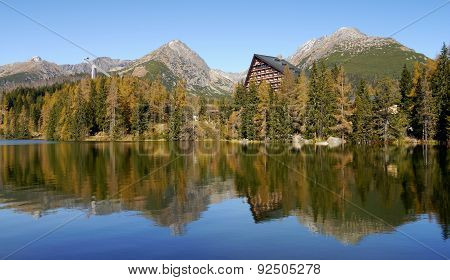 Mountains with reflection in lake