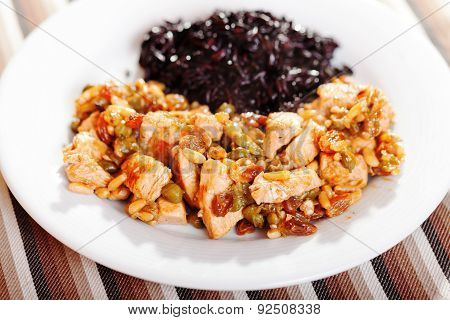 Turkey With Capers And Wild Rice