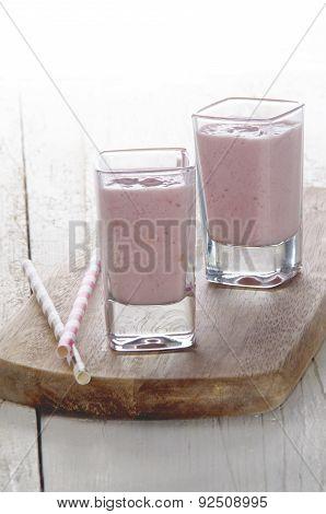 Strawberry Milk Shake In A Glass