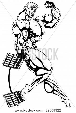 super muscle bound bodybuilder