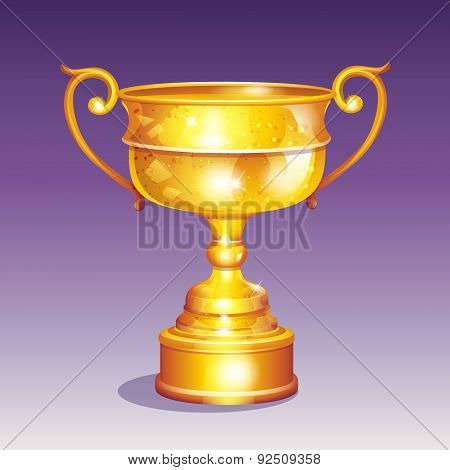 Cartoon Illustration Of A Golden Cup