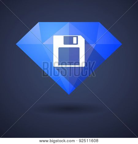 Diamond Icon With A Floppy